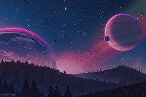 Stars Planets 4k Wallpaper