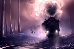 Steam Train Escape Wallpaper