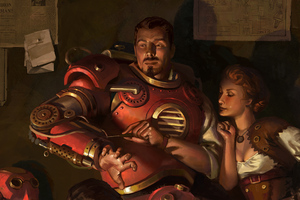 Steampunk Iron Man Wallpaper