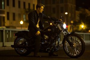 Steve Rogers On His Harley Davidson