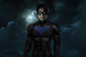 Steven Yeun As NightWing 4k Wallpaper