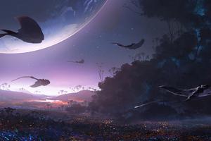 Stingray Alien Planet 5k Wallpaper