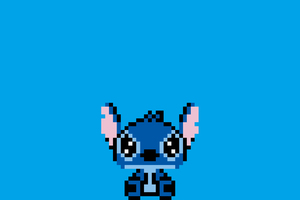 Stitch Pixel Art Wallpaper