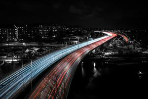 Stockholm Highway Speed Trails Lights
