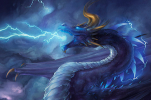 Storm Dragon Wallpaper