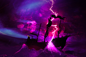 Storm In Ocean 4k