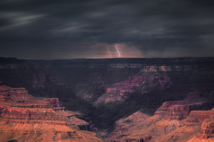 Storm Passing Through The Grand Canyon
