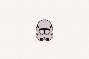 Storm Trooper Minimalism Mask 4k Wallpaper
