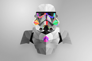 Stormtrooper Abstract Art Wallpaper