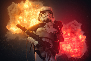 Stormtrooper Explosion 4k Wallpaper