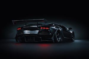 Strada Verso Lamborghini Aventador S Roadster CGI Rear 4k Wallpaper