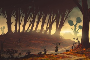 Strange Forest Wallpaper