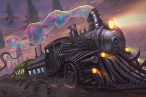 Strange Train In Strange World Wallpaper