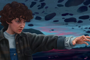 Stranger Things Eleven Artwork Wallpaper