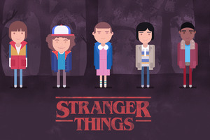 Stranger Things Minimalism 4k Wallpaper