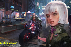 Strangers In Night City Cyberpunk 2077 Wallpaper