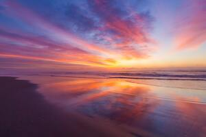 Stunning Beach Sunrise 5k Wallpaper