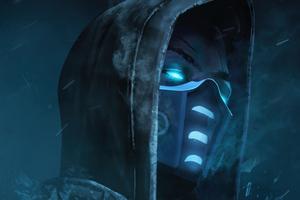 Sub Zero Mask Glowing Eyes 4k