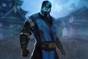 Sub Zero Mortal Kombat Fan Art With Power Effect 4k