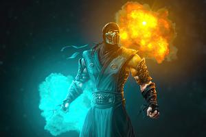 Sub Zero Mortal Kombat Fire And Ice 4k
