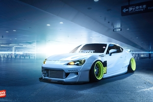 Subaru BRZ Parking Loat 4k Wallpaper