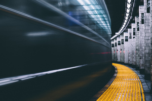 Subway Long Exposure 4k Wallpaper