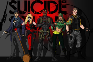 Suicide Squad Artwork Wallpaper