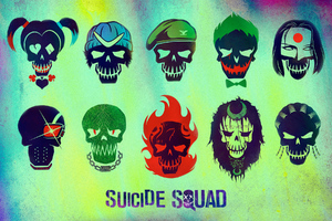 Suicide Squad Characters Minimalism Wallpaper