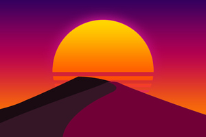 Sun Desert Abstract Artwork