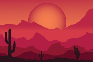 Sun Desert Art