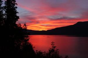 Sun Rise Calm Mountains