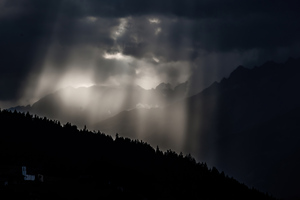 Sun Shining Through Clouds 5k Wallpaper