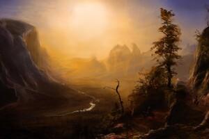 Sunlight Mountains Landscape