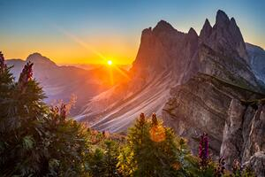 Sunrise At The Dolomites Italy Wallpaper