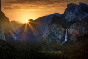 Sunrise At Tunnel View Yosemite National Park 5k