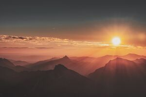 Sunrise Mountains Landscape Evening 5k