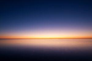 Sunrise Ocean Minimalism Simple Background