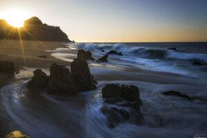 Sunrise Over Cliff Long Exposure