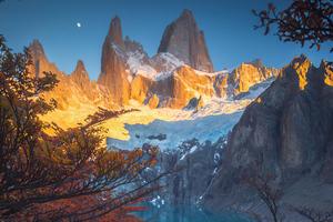 Sunrise Starring Mt Fitz Ro In Patagonia 4k Wallpaper