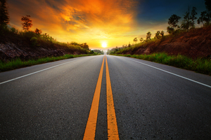 Sunrise Sunset Road Wallpaper