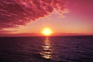 Sunrises Red Sky Pink Sky Wallpaper