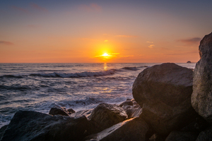 Sunset At Buccaneer Beach 4k Wallpaper