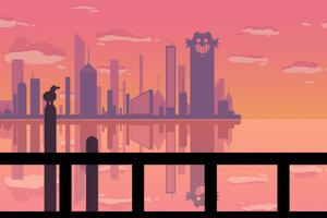 Sunset At Pixel City