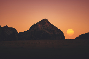 Sunset Dry Day 5k Wallpaper