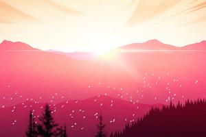 Sunset Force Vista 5k Wallpaper