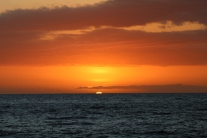 Sunset Hawaii Orange Tropical Ocean Sea Water 5k Wallpaper