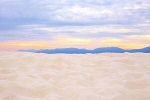 Sunset In White Sands National Monument 5k