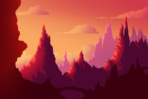 Sunset Journey Landscape