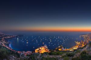 Sunset Landscape Monaco Wallpaper