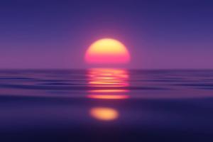 Sunset Minimal Ocean 5k Wallpaper